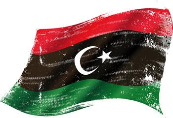 Libyan grunge flag