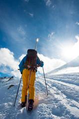 Skifahrer/Tourengeher