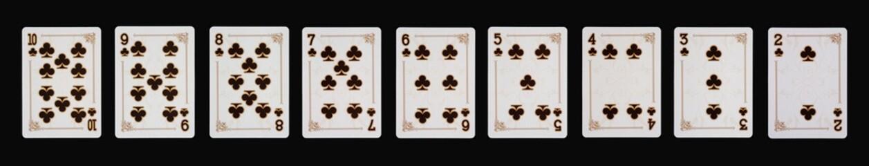 Spielkarten Poker - KREUZ im Spiel