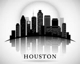 Houston Texas skyline city silhouette - 78398656