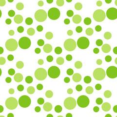 seamless green circle peas pattern.