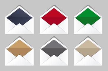 Open envelopes set. Corporate templates. Business office