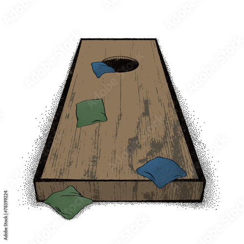 Old Cornhole set - 78399224