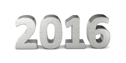 neues jahr new year text silber 2016 3D