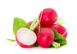 radishes isolated on the white background