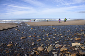 Oregon coast beach activities and surf.