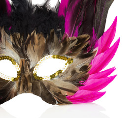 carnival mask isolated on the white background