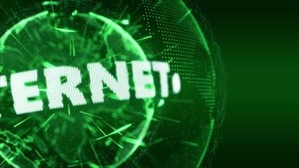 World News WWW Internet Intro Teaser green