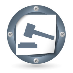 dark abstract icon with paper and law symbol