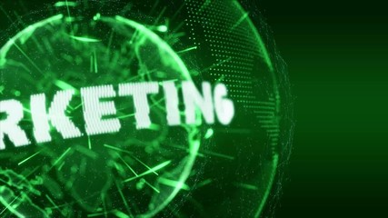 World News Marketing Internet Intro Teaser green