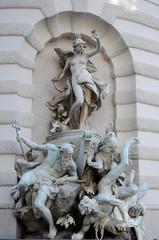 Statue on a square of Vienna, Austria.