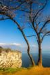 canvas print picture - Sasso di Manerba und Gardasee