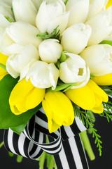 Spring tulip bouquet arrangement