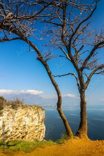 canvas print picture Sasso di Manerba und Gardasee