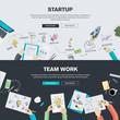 Zdjęcia na płótnie, fototapety, obrazy : Flat design concepts for business startup and team work