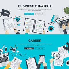 Flat design illustration concepts for business, career