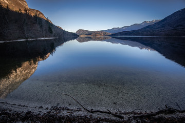 Bohinj Lake , Triglav National Park,Slovenia.