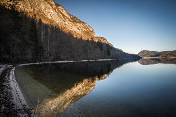 Bohinj Lake in Triglav National Park,Slovenia.