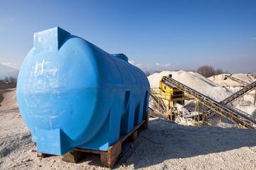 riserva idrica su impianto di inerti