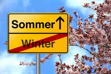 Jahreszeit Wechsel Sommer Winter