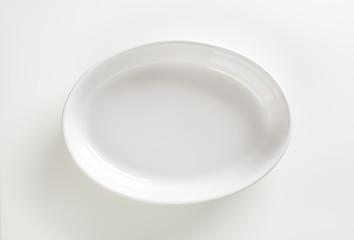 Deep oval porcelain dish