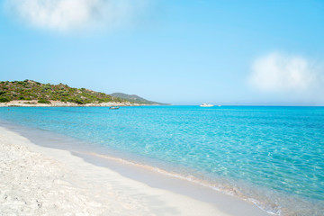 Plage de Saleccia the most beautiful beach of Corsica, France