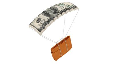 Wallet on parachute