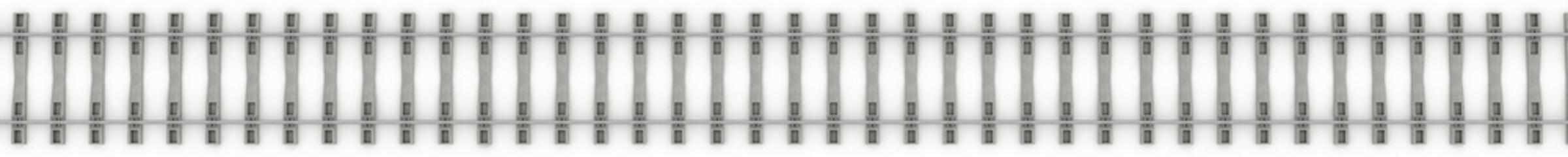 Iron rails on a white background. Raster. 4