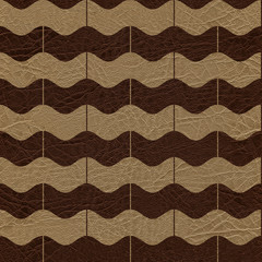 Abstract zig zag pattern - seamless background - leather surface