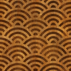 Abstract arched pattern - seamless background - wooden surface