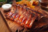 Fototapety Mouth Watering Juicy Grilled Meat on Cutting Board