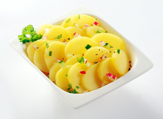 Gourmet Boiled Potato Slices with Herb and Spices