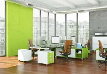 modernes Büro im Loft