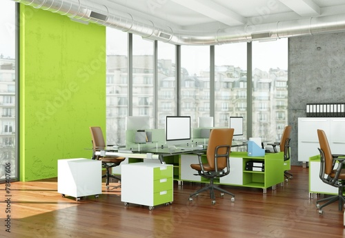Leinwanddruck Bild modernes Büro im Loft
