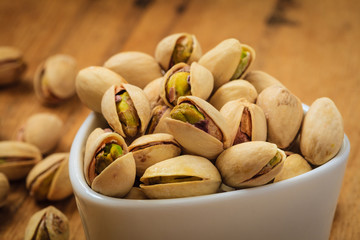 Roasted pistachio nuts seed with shell
