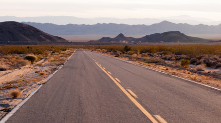 Kelbaker Road Approaches Needles Freeway US 40 California Desert