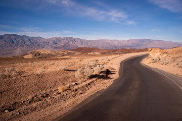 Artist's Drive Side Road Perfect Day Death Valley National Park