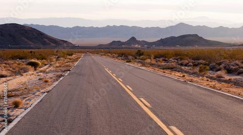 Kelbaker Road Approaches Needles Freeway US 40 California Desert - 78408647