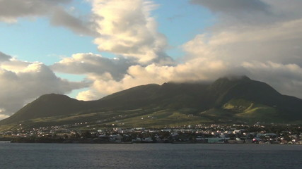 Panoramic view of Saint Kitts in the Caribbean