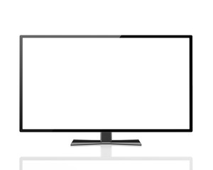 digital technology business concept: blank TV  display with emp