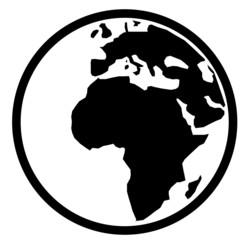 Black globe image