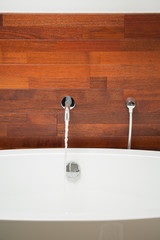 Close-up of bathtub