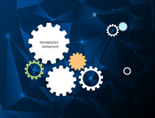 Abstract Technology background with gear wheel