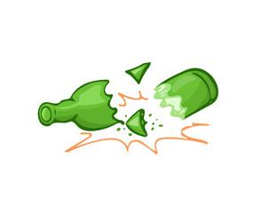 Broken bottle glass