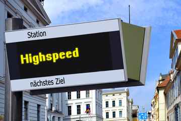 Anzeigetafel 7 - Highspeed