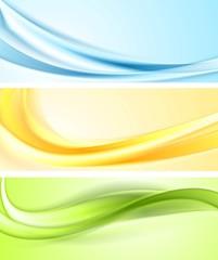 Shiny wavy vector banners