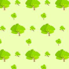 green tree pattern eco icon vector