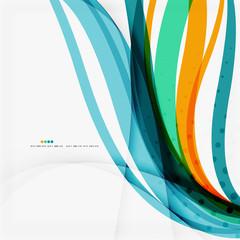 Modern blue and orange color shape composition