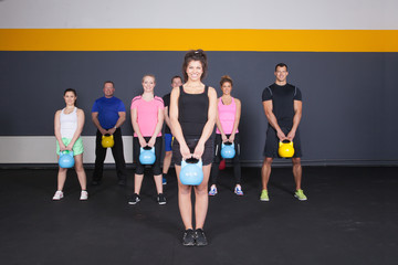 Kettlebell fitness training - sports team
