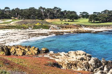 The sand beach in Monterey, California